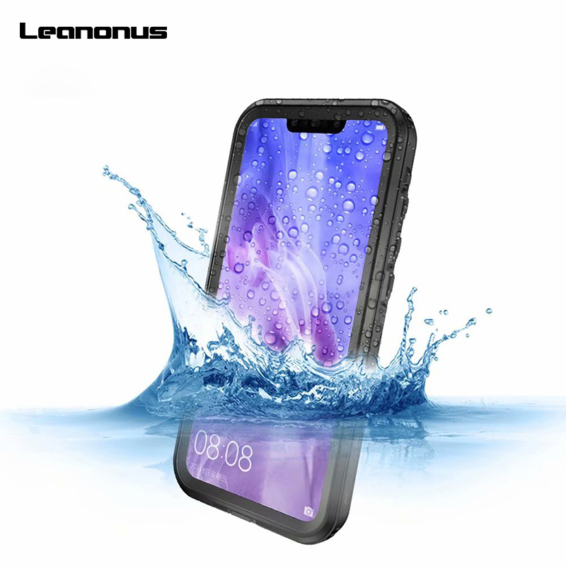 Leanonus Waterproof Cover for HUAWEI P20 Lite Dustproof Case Full Coverage Case for Huawei P20 Lite Nova 3e Outdoor Sports CaseLeanonus Waterproof Cover for HUAWEI P20 Lite Dustproof Case Full Coverage Case for Huawei P20 Lite Nova 3e Outdoor Sports Case