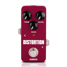 KOKKO Mini Distortion Pedal Portable Guitar Aluminum Alloy Distortion Pedal Portable Electric Bass Guitar Ukulele Effects FDS2 цена и фото