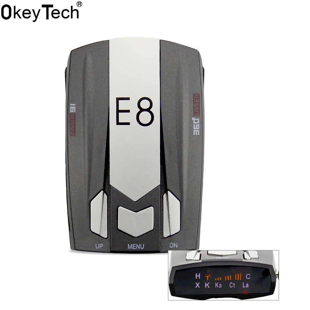 Radar Detector App >> OkeyTecch E8 Best Cheap Metal Car Radar Detector Full Band 360 Degrees Detect Scanning Voice ...