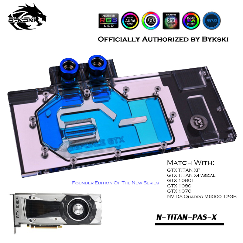 Bykski N-TITAN-PAS-X Cobertura Completa GPU Bloco De Água Para VGA GTX1080 1080ti Titan TITAN X Placa Gráfica XP