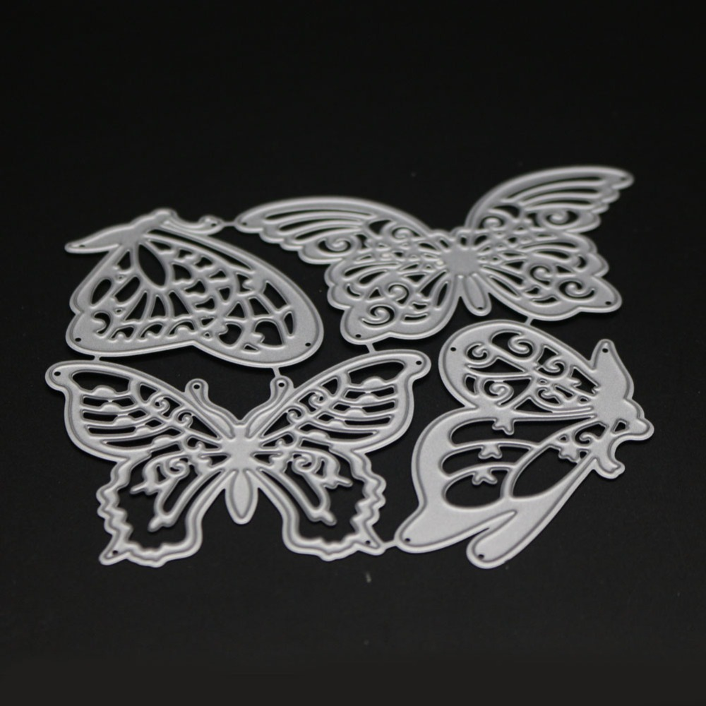 Butterflies Pattern Embossing Cutting Dies for DIY Scrapbook Album Card Making