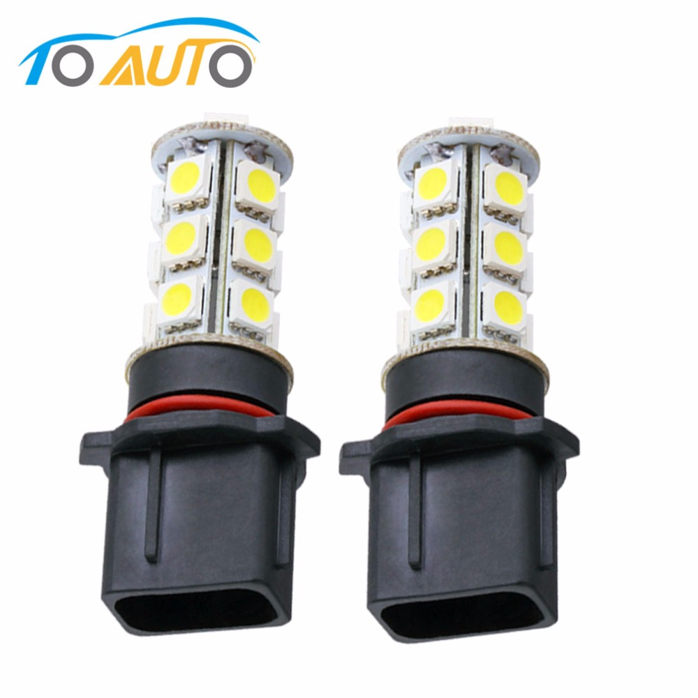 2pcs P13W 18 SMD 5050 Pure White Driving DRLFog 18 LED Car Led Light Bulb Lamp Parking Car Light Source 12V Wholesale