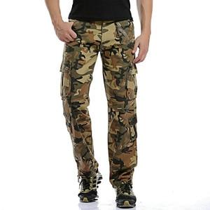 Image 5 - Dropshipping Cotone Cargo Pantaloni Da Uomo in Stile Militare Tattico Allenamento Pantaloni Dritti Casual Camouflage Pantaloni Uomo