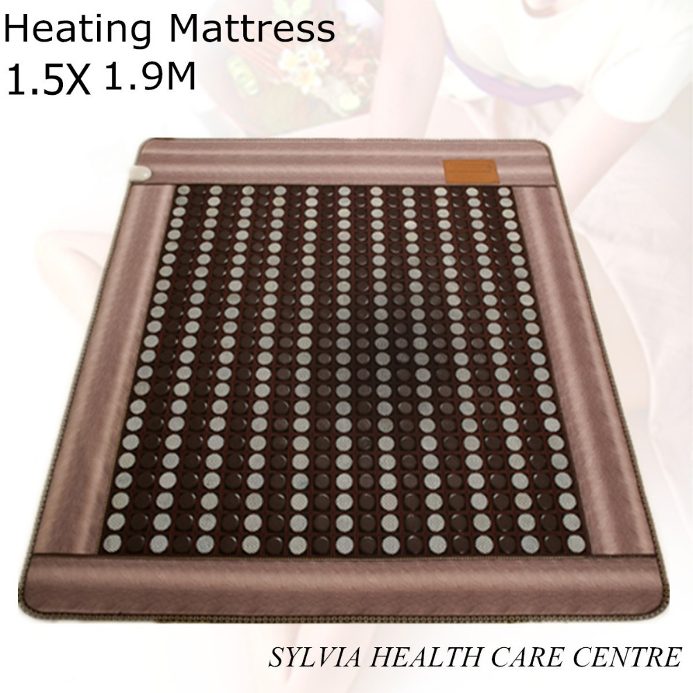 2017 New arrival hot jade cushion health care physical therapy heating sleep germanium heated bed cushion 1.5X1.9M/ 59''X74.8'' best selling korea natural jade heated cushion tourmaline health care germanium electric heating cushion physical therapy mat