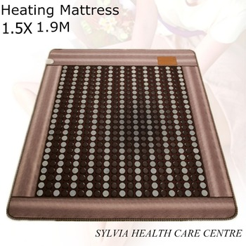 2018 New arrival hot jade cushion health care physical therapy heating sleep germanium heated bed cushion 1.5X1.9M/ 59''X74.8''