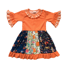 high quality cotton kids girls clothing wholesale adorable baby girl Fall Winter boutique dress 6p510 wholesale baby kids boutique clothing lots