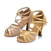Women Ballroom Latin Dance Shoes Social Salsa Party Shoes Female Tango Shoes in High Heeled 7.5cm VA30946