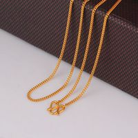 Fine Pure 999 24K Yellow Gold Chain Women Curb Link Solid Necklace 18inch