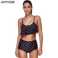 JOYMODE 2017 Sexy Animal Print Women Swimwear Wireless Push Up Bikini Set High Waist Bathing Suit