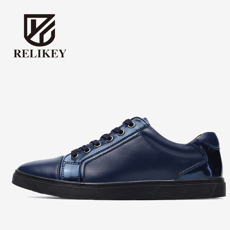 RELIKEY Brand New Arrival Men Casual Shoes,Handmade High Quality Genuine Leather Male Flats,Comfortable Breathable Shoes. relikey brand men winter loafers high quality handmade genuine leather shoes soft driving male flats casual moccasins for men