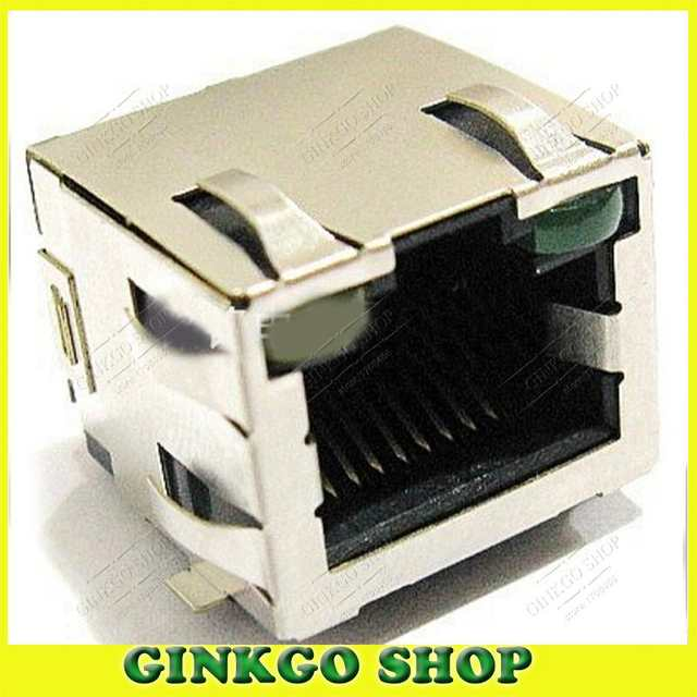 YOULITTY 20pcs//lot 56+LED Laptop Network Port LAN Interface RJ45 Jack Internet Socket SMT with Shrapnel