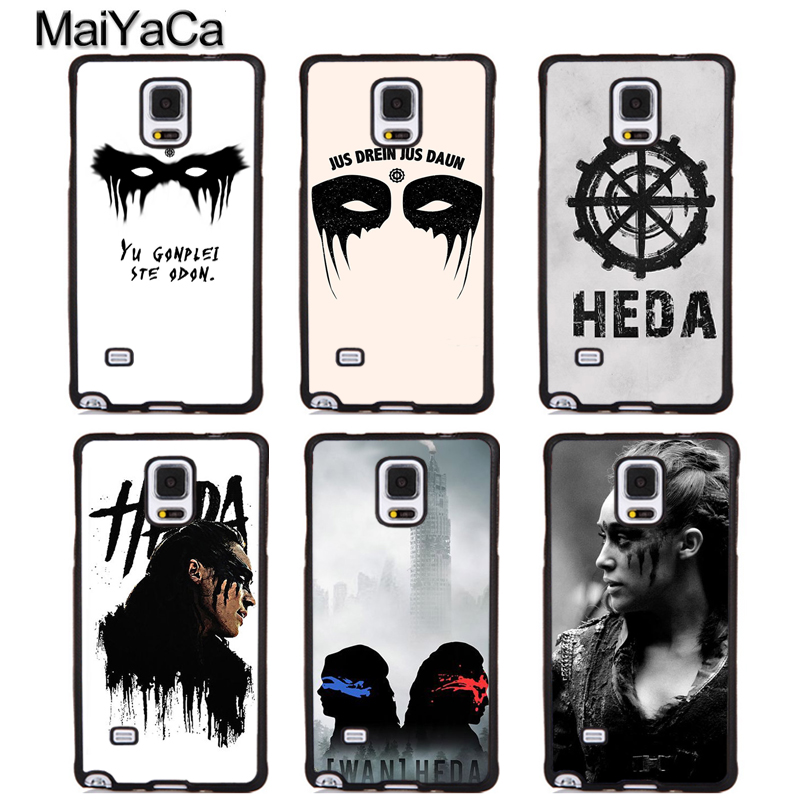 MaiYaCa HEDA LEXA The 100 TV Series Soft TPU Phone Cases For Samsung Galaxy S5 S6 S7 edge plus S8 S9 plus Note 4 5 8 Cover Coque