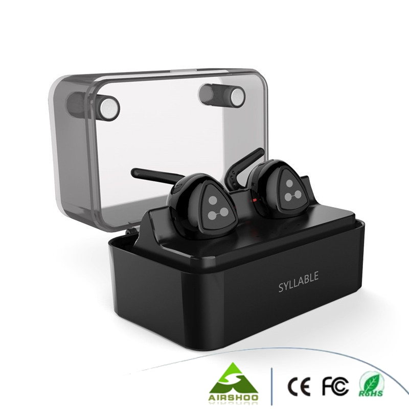 Real Syllable D900 mini Bluetooth Stereo Earphone Wireless Music Earpiece Handsfree Earbud Bluetooth Sport Earphones