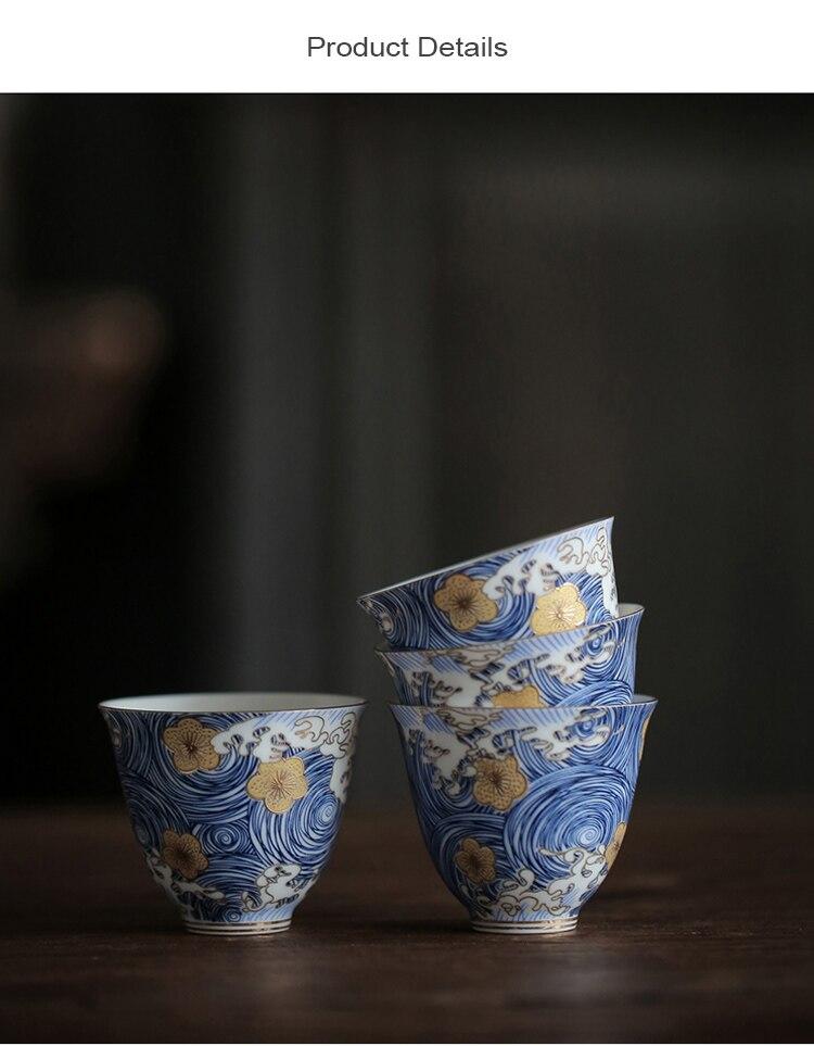 à mão cerâmica xícara de chá kung