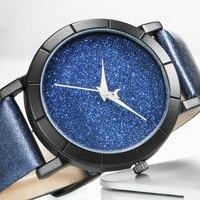 UNIFUN New Moon Stars Design Analog Waterproof Wristwatch Women Girl Lady Unique Cool Gift Quartz Casual