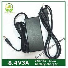 8.4V3a caricatore di batteria al litio 2 serie batteria al litio del caricatore del pacchetto di garanzia