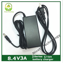 8.4V3a lithium battery charger 2 series  lithium battery pack  charger warranty