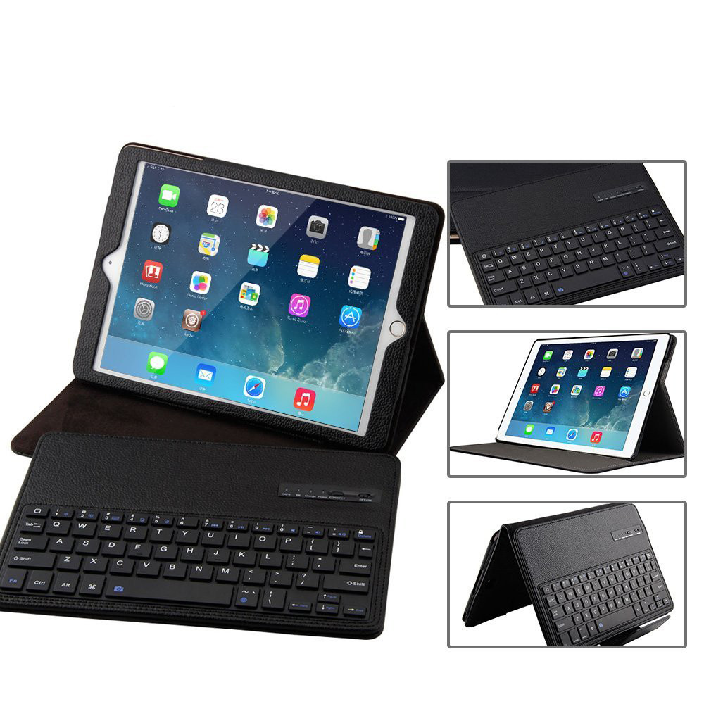 GOOJODOQ Case For iPad mini 1 2 3 4 Bluetooth Keyboard Case + PU Leather Smart Cover Wireless Bluetooth Keyboard for ipad mini for ipad pro 12 9 keyboard case magnetic detachable wireless bluetooth keyboard cover folio pu leather case for ipad 12 9 cover