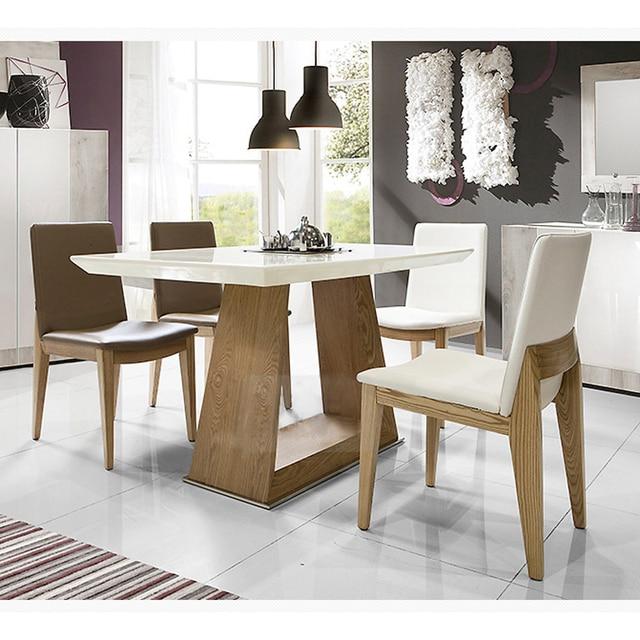 Nordic rectangular peque o apartamento minimalista de for Sala comedor comedor rectangular