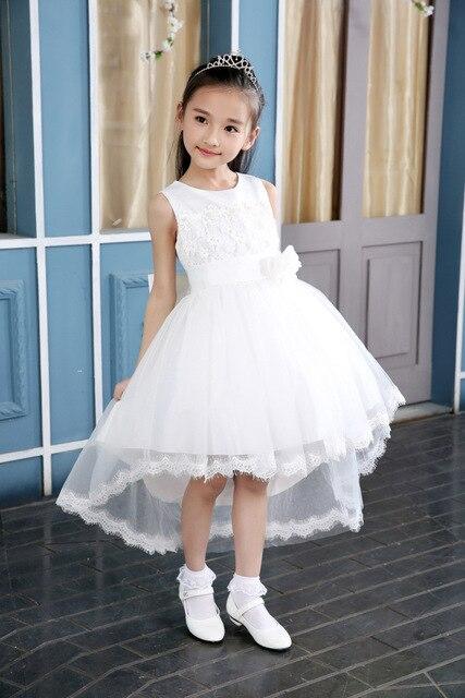 b87b5f69e3 Fioletowy Biały Kwiat dziewczyna sukienka na wesele Elegancki spływu Suknia Letnie  Dziewczyny Princess Tutu Sukienka