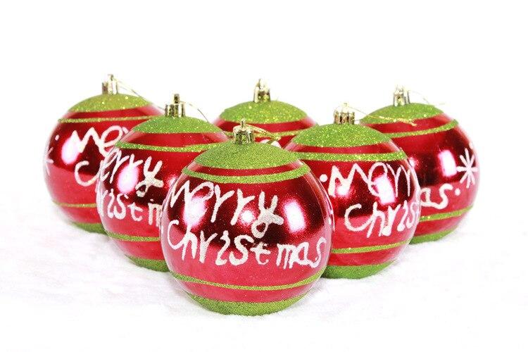 6 Stucke 10 Cm Mischfarbe Weihnachtskugeln Fur Christbaumschmuck