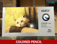 72 Colored Pencil Set Professional Water Color Drawing Pencils With Iron Packing Box