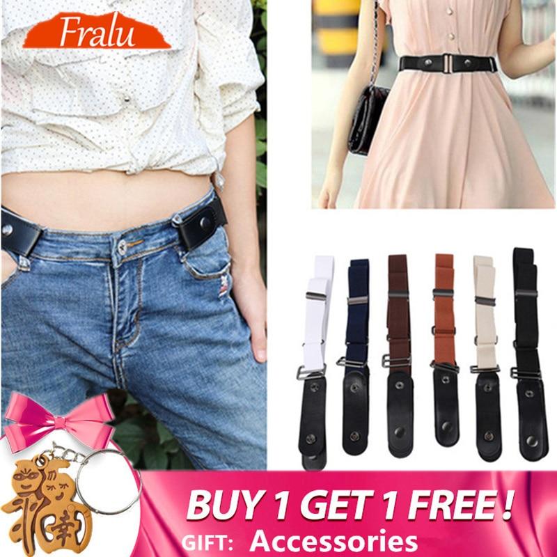 2019 Buckle-Free Belt For Jean Pants Dresses No Buckle Stretch Elastic Waist Belt For Women/Men No Bulge No Hassle Waist Belt