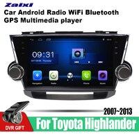ZaiXi 2 din Android CAR Radio DVD Player for Toyota Highlander 2007 2008 2009 2010 2012 2013 Car DVD Navigation wifi BT