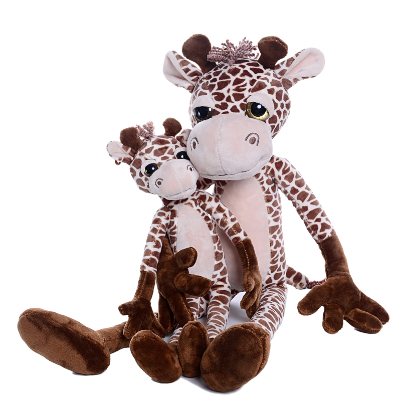 Plush Simulation Giraffe Toys Stuffed Animal Deer Animal Dolls Christmas Gifts for Kids Girls Boys Home Decoration 23 cartoon sika deer stuffed jungle animal plush toys kids doll schattige knuffel wedding decoration pelucias toys for girls 50g475