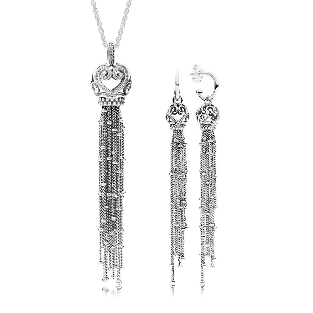 2018 100% 925 Sterling Silver Enchanted Tassels Necklace And Earring Gift Set Fit Charm Original Necklace A Set Of Prices велосипед cube stereo hybrid 140 sl 27 5 2014