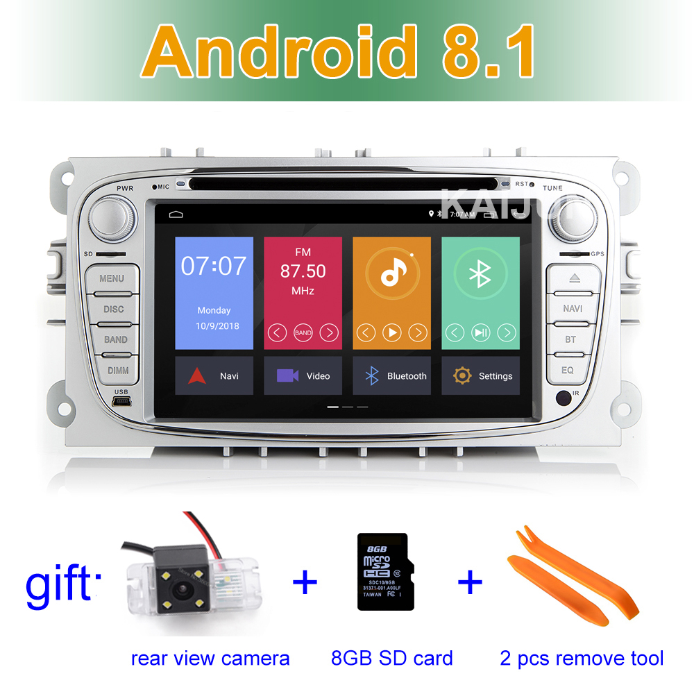 IPS screen Android 8.1 Car DVD Stereo Player GPS for Ford Mondeo Focus S/C Max Galaxy Kuga with BT Wifi Radio android 8 4 32gb car gps navigation dvd player radio isp screen for ford focus 2004 2011 ford mondeo focus s max kuga galax mk3