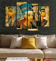 egypt Diamond Painting Egyptian Pharaoh Cross Stitch 4pcs/set full Diamond Embroidery Pattern Square Rhinestone Home Decorative