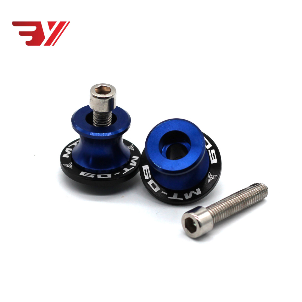 M6 Motorcycle Accessories CNC Aluminum Swingarm Spools Slider Stand Screw For Yamaha MT-09 MT09 MT 09 Tracer 2015-2017 With Logo