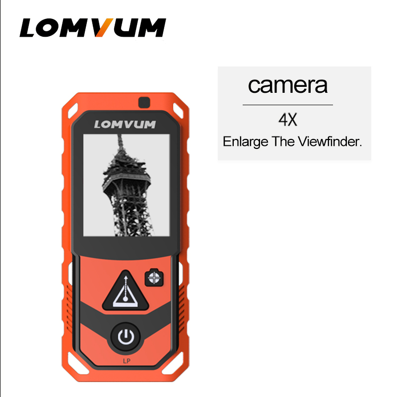 Tools : LOMVUM Outdoor Laser Distance Meter 4X Camera Laser Rangefinder Bluetooth 200m150m Data Exported USB Handheld Distance Measuring