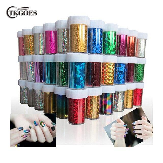 TKGOES 12 PCS/lot Designs Nail Art Transfer Foils Sticker,Free ...
