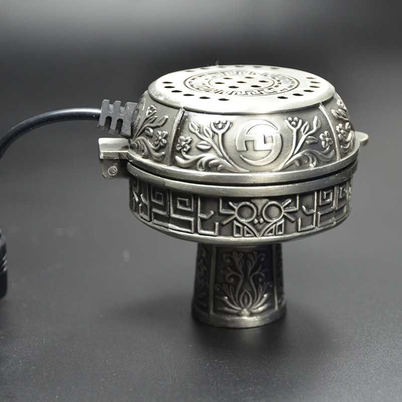 Métal E-shisha Smokepan Électronique Shisha Tabac Bol En Céramique Porte-Charbon Narguilé Chicha Narguilé Waterpijp Accessoires