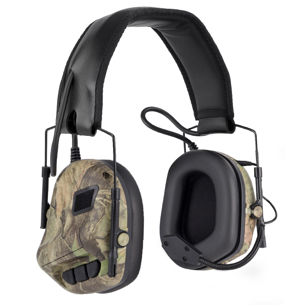 Tactical Headset Hunting Airsoft Headphone with Noise Reduction Canceling Camouflage Military Combat Shooting Headset