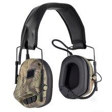 سماعة رأس تكتيكية للصيد سماعة رأس Airsoft مع خاصية إلغاء الضوضاء رأس مموهة قتالية عسكرية للتصويب
