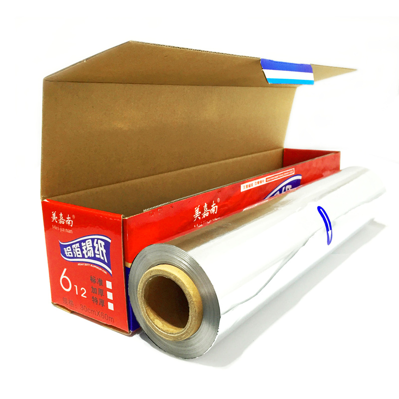 Baking barbecue aluminum foil paper disposable high temperature barbecue flower barbecue meat wrapping 120 meters 60 meters
