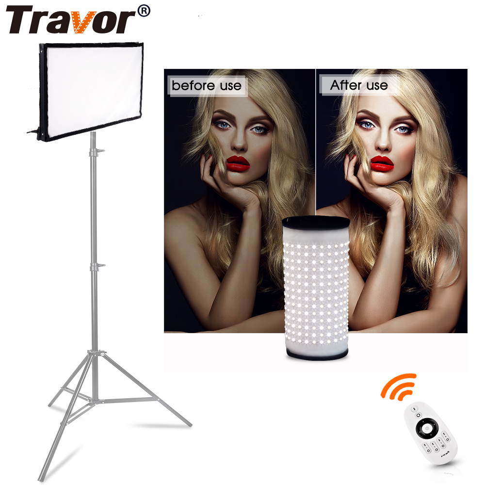 Travor FL-3060 flessibile luce led video studio light size 30 * 60CM CRI95 5500K con controllo di fotografia a distanza telecomando 2.4G