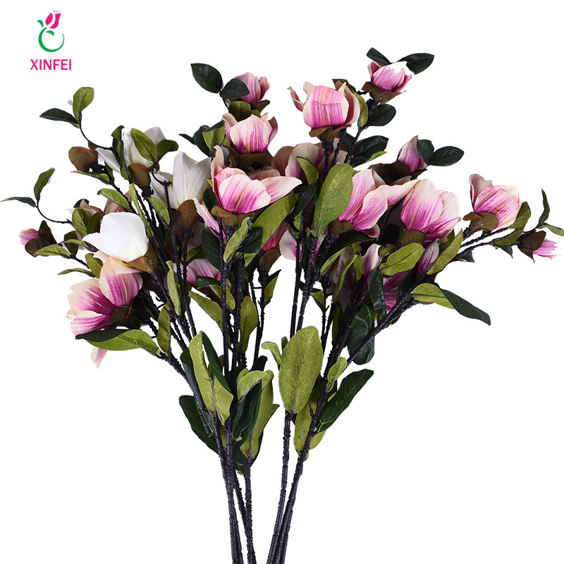 Hot sale xinfei magnolia artificial flowers silk fake flower branch xinfei magnolia artificial flowers silk fake flower branch fleur artificiel for table flores wedding home decortion accessories mightylinksfo