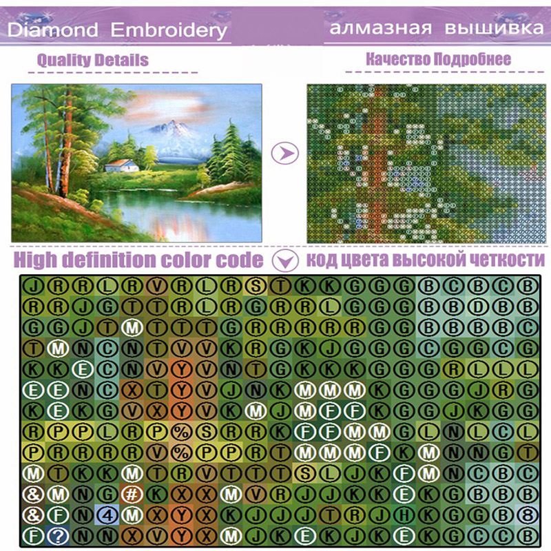 5d Diamond Mountain Scenery Paintings Picture Houses Dimond Painting Crafts Square Kits Embroidery Peacocks Mosaic in Diamond Painting Cross Stitch from Home Garden