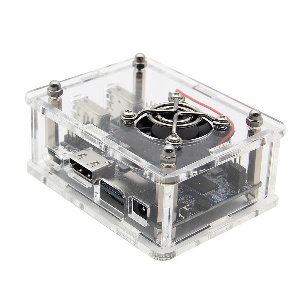 Image 4 - Orange Pi Lite Acrylic Case with Fan+Heatsinks+5V 3A Power Supply / Power Adapter Set for Orange Pi LiteDemo Board   -