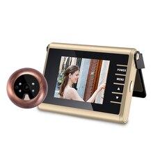 3 inch LED Door Viewer Peephole Door Bell Eye Doorbell Door Camera ZJA-D12 Photo/Video Press Recording With IR Night Vision