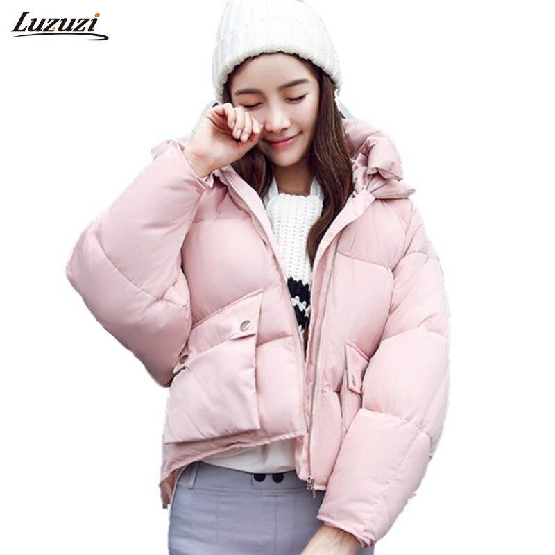1PC Winter Jacket Women Parka Cotton Padded Short Coat ...