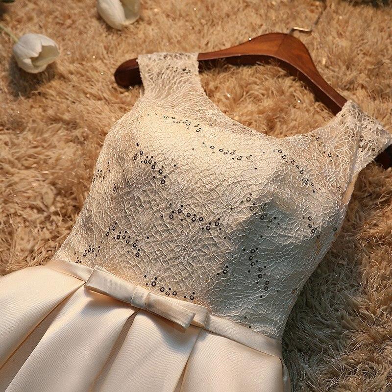 Robe de soiree 2019 korte kant plus size lace up avondjurk vestido de - Jurken voor bijzondere gelegenheden - Foto 4