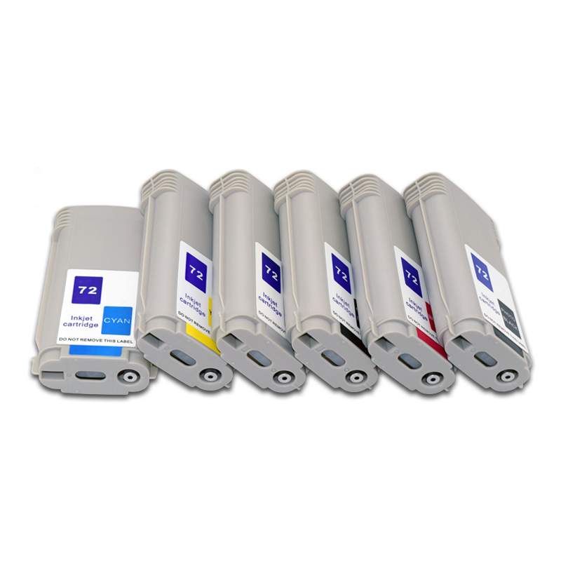 130ml HP72 Full Compatible Ink Cartridge with Dye Ink for HP Designjet t610 t620 t770 t790
