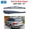 Oge 14 bladea e braço do limpador para fiat stilo ''rear 5-door wagon 2001-2007 brisas acessórios do carro de borracha de silicone rft41-1c