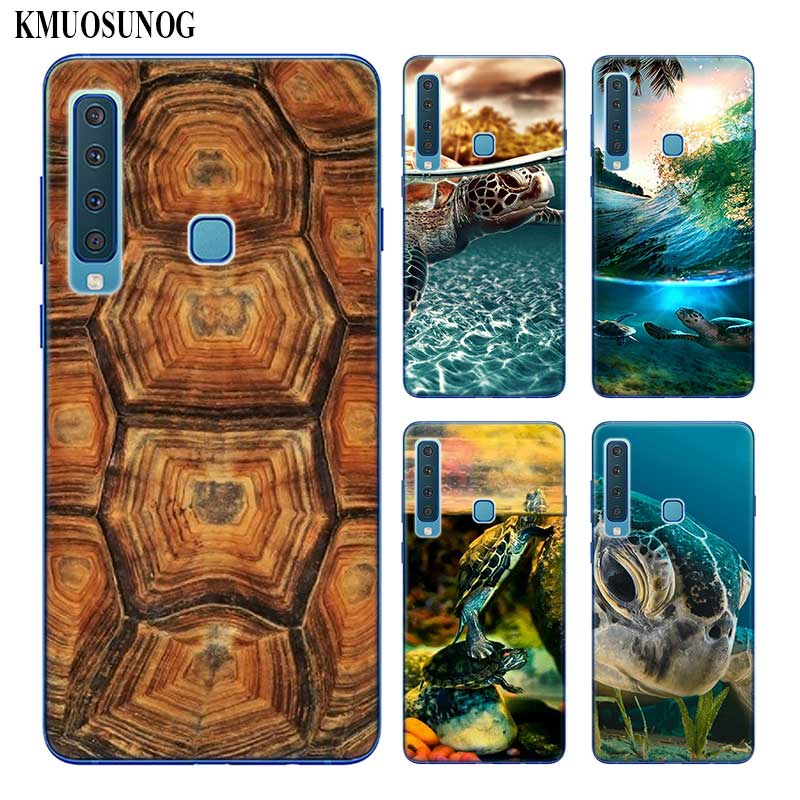 Transparent Soft Silicone Phone Case Cool Turtle Tortoise for Samsung Galaxy A9 A8 Star A7 A6 A5 A3 Plus 2018 2017 2016