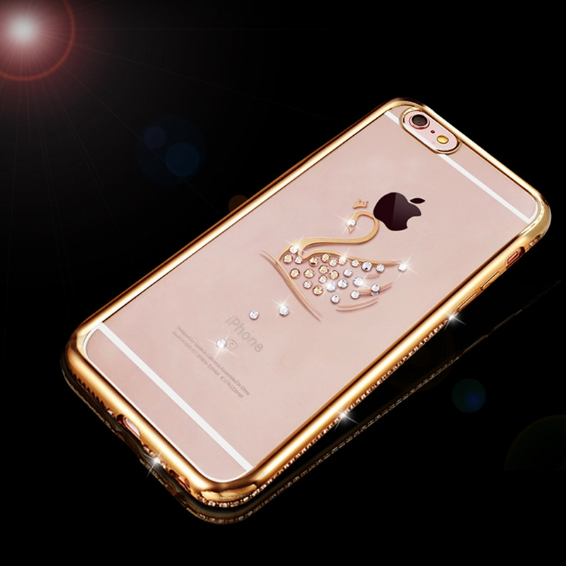 For Iphone 7 Plus Case Silicone Transparent Cover Luxury Swan Bling Rhinestone Clear Case For Iphone 6 6s Plus Iphone 8 Plus 6 S Delicious In Taste